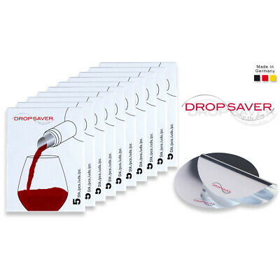"DROPSAVER ""stop the drop"" (10 x 5er-Packung) - Weinausgießer, Flaschenausgießer"