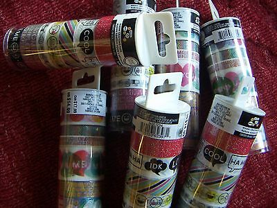 New Craft Smith Emoji Washi Crafting Tape, Lot of 7 Tubes