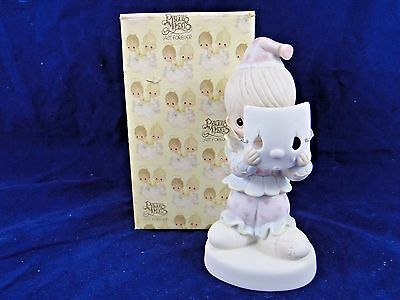 PRECIOUS MOMENTS 1981 COLLECTOR EDITION PUT on a HAPPY FACE PM-822 BOY CLOWN