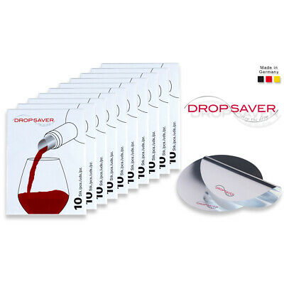 "DROPSAVER ""stop the drop"" (10 x 10er-Packung) - Weinausgießer, Flaschenausgießer"