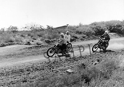 "Triumph Motorcycle 1960's Motocross Racing in California 11""x17"" Poster Photo 52"