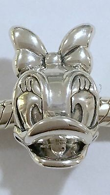 S925 Sterling Silver Daisy Duck Charm + Pandora PolishIng Cloth