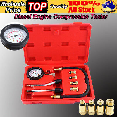 Auto Car Cylinder Leak Tester Petrol Engine Compression Gauge Test Kit Tool Set