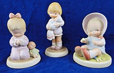 Memories of Yesterday Mabel Lucie Attwell-Enesco Corp. Lot of 3 - 9in. Figurines