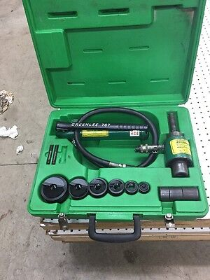 """Greenlee 7306SB With New 1/2""""- 2"""" Knockout Punches 767 pump 746 ram"""