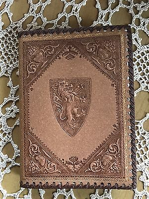Handmade Renaissance Style  Leather Medici Lion Journal Diary Florence