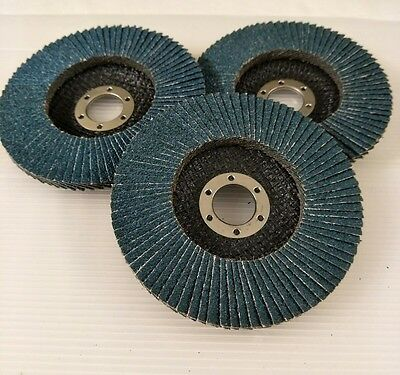 "20 Pcs X 5"" 125MM 80 Grit ZIRCONIA FLAP DISC WHEELS Angle Grinder METAL GRINDING"