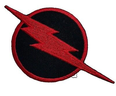 THE FLASH lightning bolt logo EMBROIDERED IRON-ON PATCH applique dc comics #27