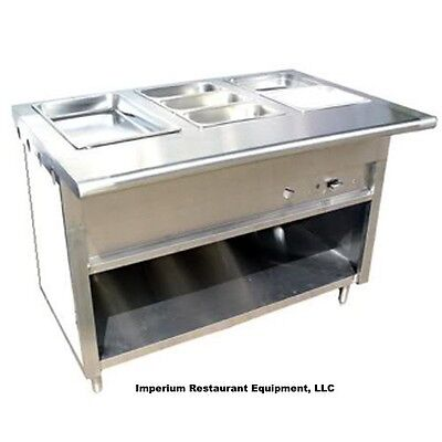 "Stainless Steel Steam Table 36"" Natural Gas 2 Pans 1 Burner 20,000 BTU NSF"