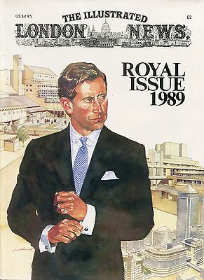 THE ILLUSTRATED LONDON NEWS MAGAZINE Prince Charles ROYAL ISSUE 1989   ~~ A-4-1