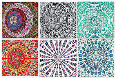 Indian Tapestry Wall Hanging Mandala Twin Hippie Bedspread Gypsy Art Decor Throw