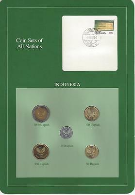 Coin Sets of All Nations - Indonesia, 5 coin green set, SCARCE