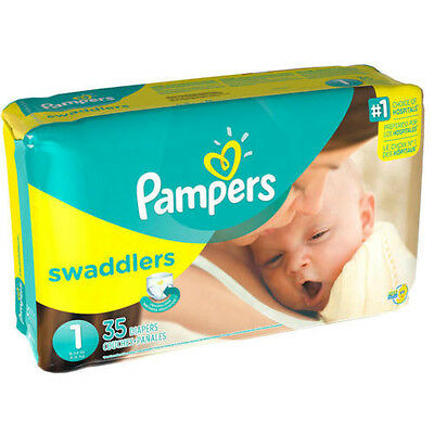 Pampers Swaddlers Diapers Size 1 Jumbo Pack 35ct  Blankie Soft