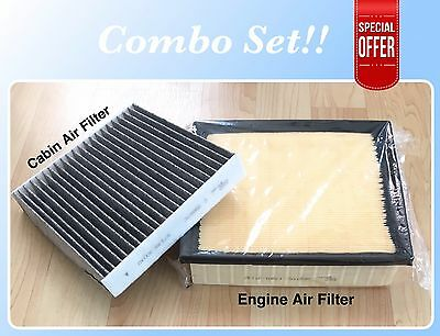 Engine&Carbonized Cabin Air Filter Camry Sienna Avalon Highlander Great Fit!