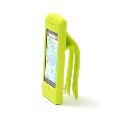 Two Wheel Cool Bike Handlebar Silicone iPhone 5 Phone Holder for Bicycle Neon