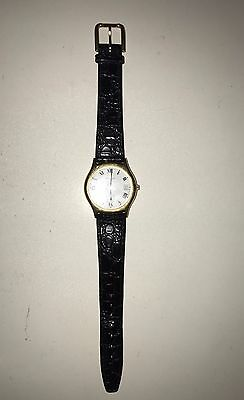 Tissot Stylist Genuine Leather Swiss Made Stainless Steel Water Resistant Watch
