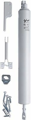 WRIGHT PRODUCT White Adjustable Hold-Open Pneumatic Screen Door Anti-Corrosive