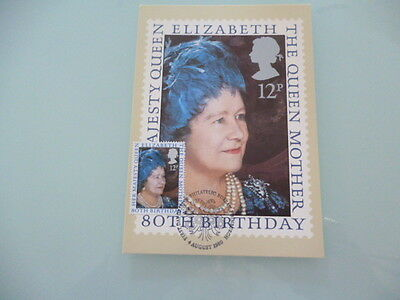 great britain 1980 PHQ Cards series 45 Queen Mother 80th Birthday  x 1