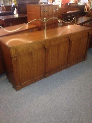 Walnut Server-Sideboard With Brass Galley By Heritage Furniture Co.