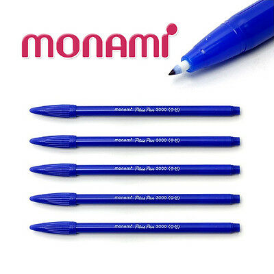 Monami Plus Pen 3000 Water Based Fine Sign Pen Aqua Ink Blue 12pcs 1Box