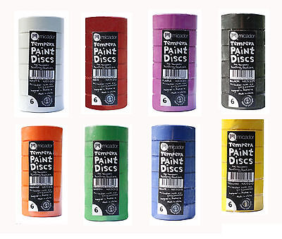 Micador Tempera Paint Refill Pack of 6