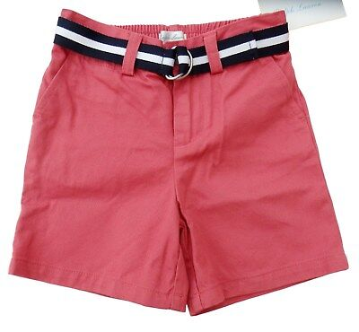 baby boy RALPH LAUREN chino SHORTS w/belt 9/12M 12/18M navy white or blue BNWT