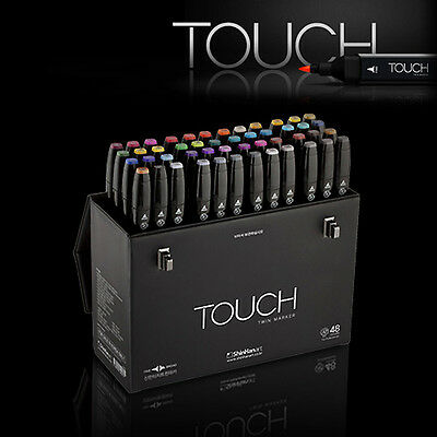 ShinHan Art TOUCH TWIN 48 Marker Set Twin tips - 48 COLORS