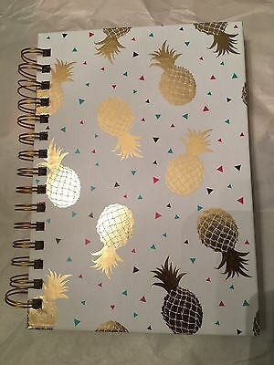 Graphique 160 pages Gold Foil Pineapple spiral notebook