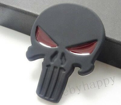 3D Skull Punisher Metal Car Emblem Decal For Harley Sticker Tank Fairing Badge