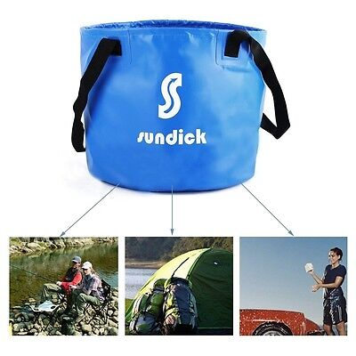 Sundick 2.6 gal (10 L) expandable collapsible water carrier bag container Blue