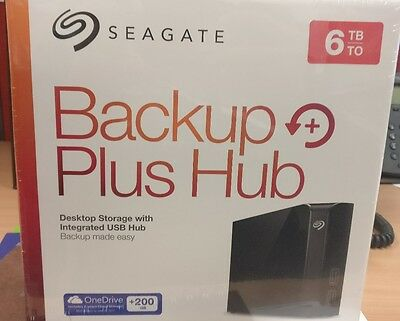 Brand NEW Seagate STEL6000300 6TB Backup Plus Hub, External HDD, USB3.0 Black