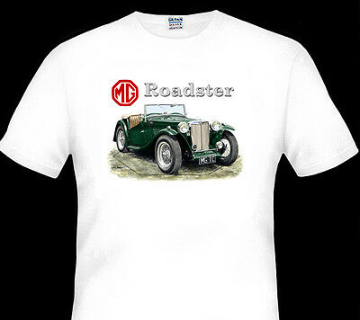 Mg  Tc   Roadster      White T-Shirt  Men's Ladies Kid's Sizes