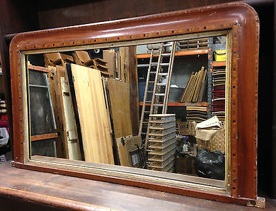 Vintage Shabby Chic Victorian Overmantle Wall Mirror, Distressed Antique No2