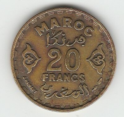 Morocco Year  50 1371 20 Francs/coin/currency