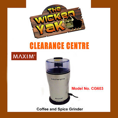 Maxim KitchenPro Electric Coffee/Herb & Spice Grinder/Grinding/Mill CG603-NEW!