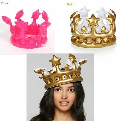 Party Toy PVC Birthday Hat Inflatable Crown Balloon