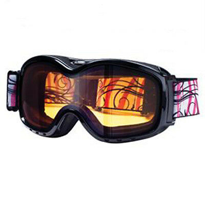 Dirty Dog Adult Ladies Fresh Black Snow Ski Snowboard Goggles SAVE 50% OFF RRP