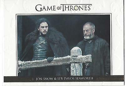 Game of Thrones Season 6 Six Relationships Gold DL38 #250