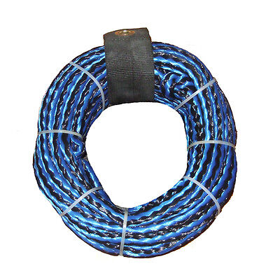 Riders Inc 1 Person Water Ski Biscuit Inflatable Tow Tube Rope Blue