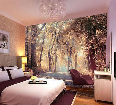 Colorful Autumn Scenery Full Wall Mural Photo Wallpaper Print Kids Home 3D Decal