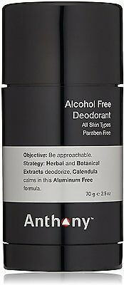 Alcohol Free Deodorant, Anthony, 2.5 oz