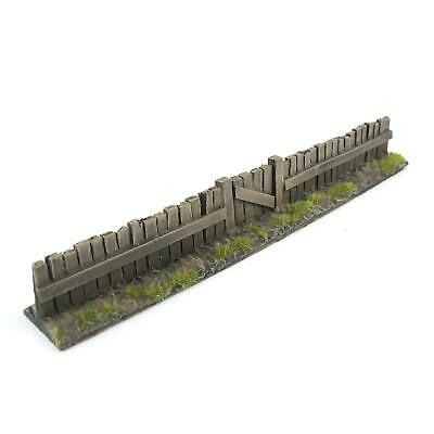 Wooden Fence Section with Gate by WWS Pack of 3 - Dioramas, Layouts, Terrain,
