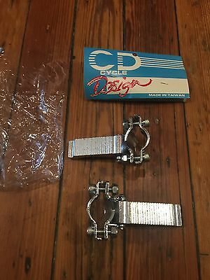Vintage NOS Old School Fork Standers-Fold Down BMX Freestyle Pegs-Cycle Design