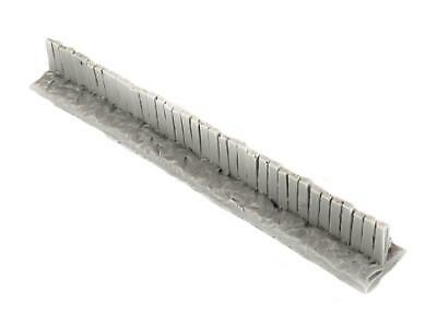Wooden Fence Section Unpainted by WWS Pack of 6 - Dioramas, Layouts, Terrain