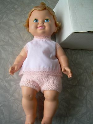 """Vintage 12"""" All Rubber Doll  1971 Mattel Inc.Blue Painted eyes & great condition"""