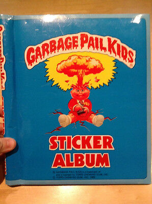 Garbage Pail Kids Sticker Album + 21 Stick-ons Puffy Stickers Packages 1986
