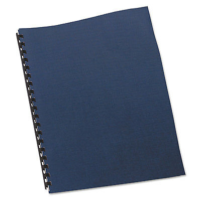 Swingline GBC Linen Textured Binding System Covers 11 x 8-1/2 Navy 200/Box
