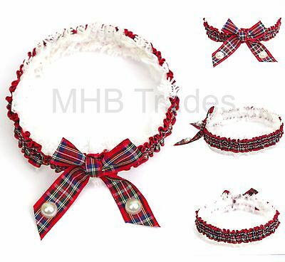 Ladies Elasticated Garter Scottish Tartan Royal Stewart