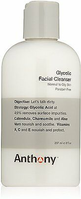 Glycolic Facial Cleanser, Anthony, 8 oz