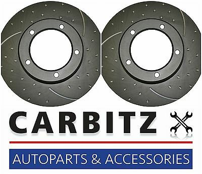 Ford Falcon BA XR6 XR6T XR8 SLOTTED & DIMPLED FRONT DISC BRAKE ROTORS RDA504D